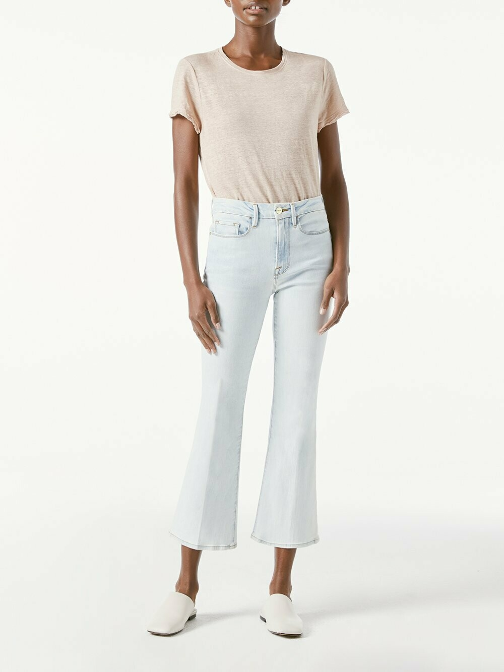FRAME Le Cropped Mini Boot - Division