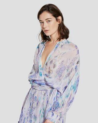 IRO Keita Kimono Sleeve Printed Mini Dress