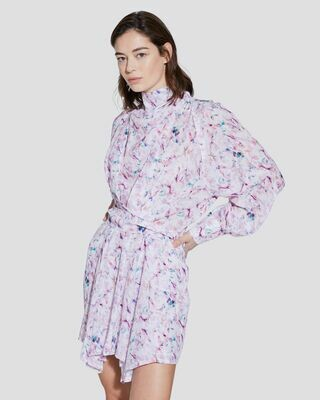 IRO Bily High Neck Printed Mini Dress