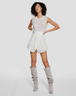 IRO Nixie High Waist Plumetis Ruffle Skirt