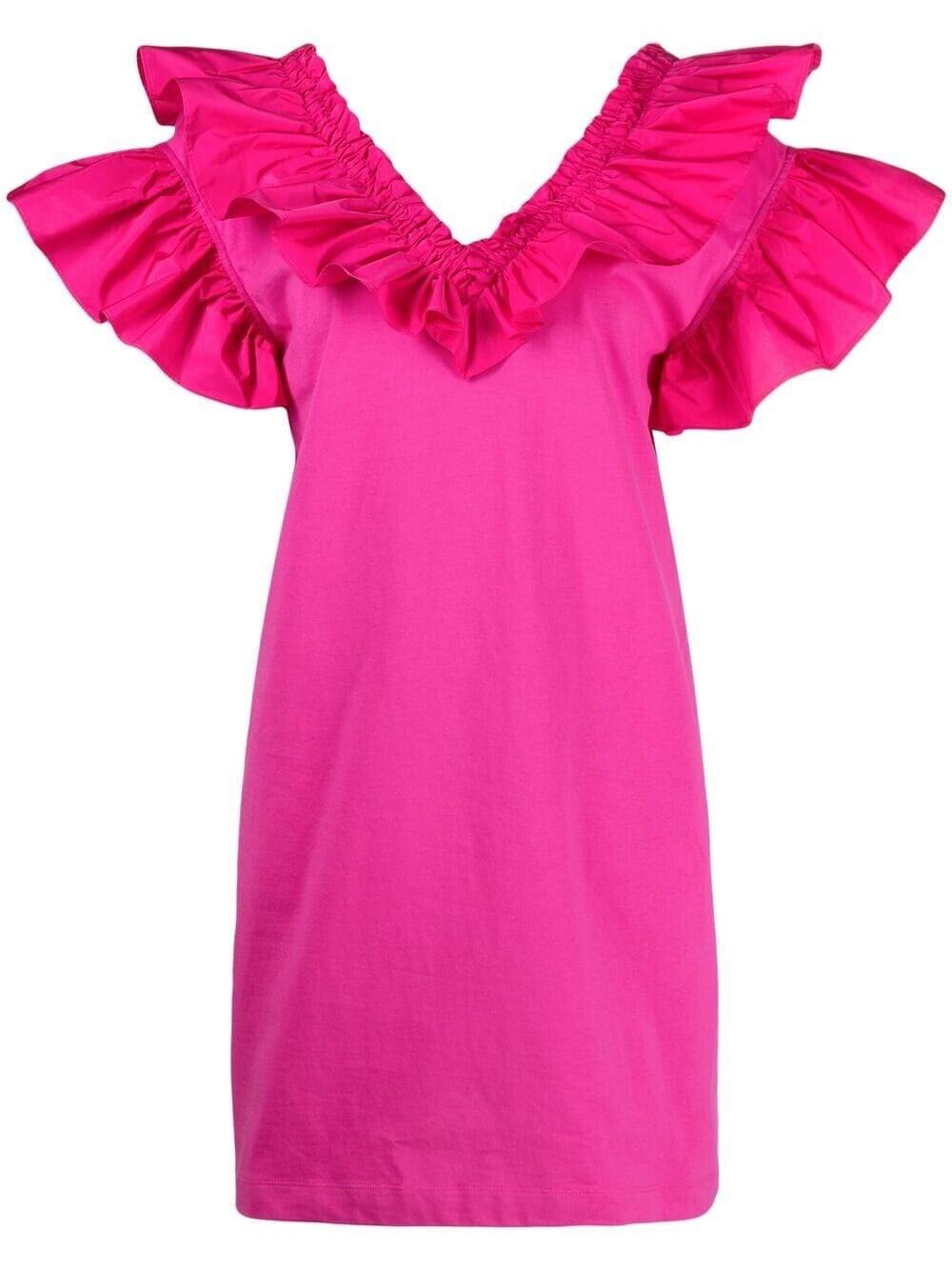 MSGM Kleid mit Volants Pink