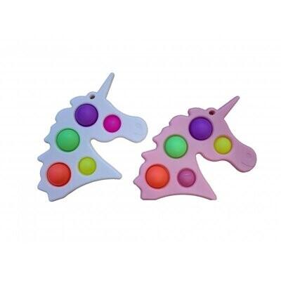 Magic fidget 5 pop it unicorn + sleutelhanger