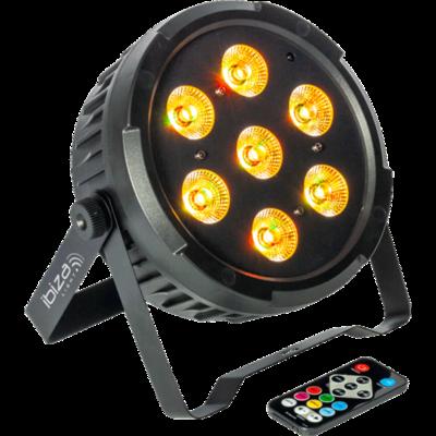 DMX-BESTUURDE LED PAR CAN MET 7X 10W RGBW LED'S 4-IN-1