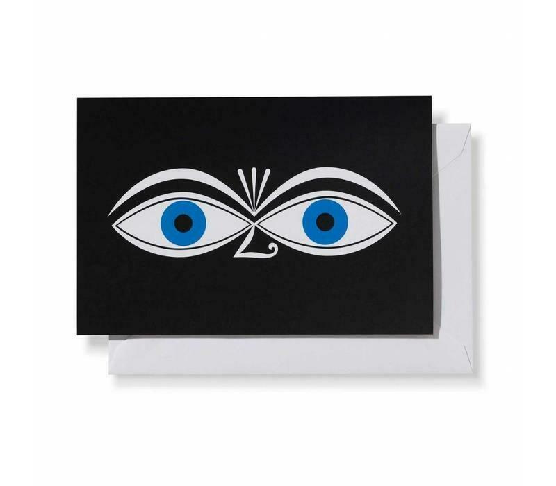 Greeting card Eyes blue
