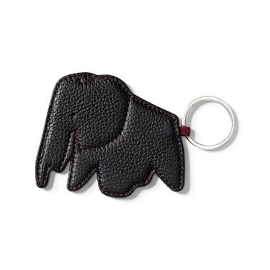 Key Ring Elephant nero