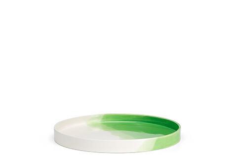 Herringbone tray green