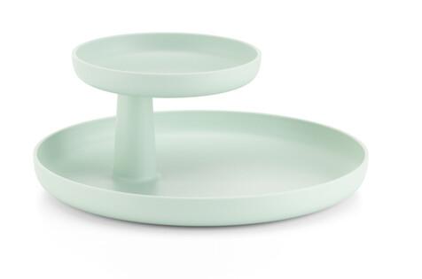 Rotary tray mint green