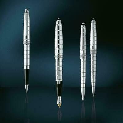 Fountain Pen - Solitaire Platinum Plated Facet M
