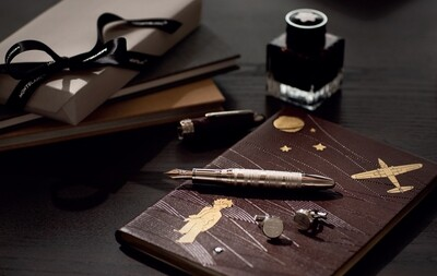 Ink Bottle - Le Petit Prince & The Aviator Brown