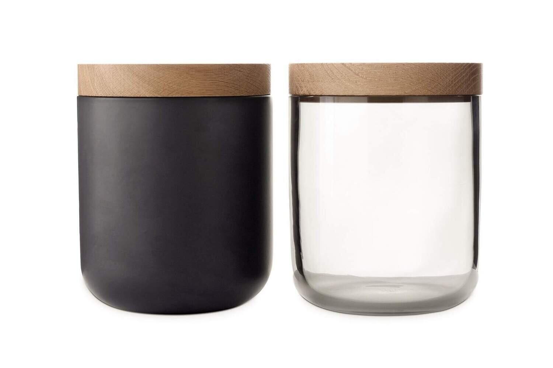 VVD1572GL Black glass Oak