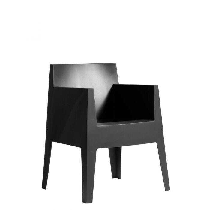 Toy armchair zwart