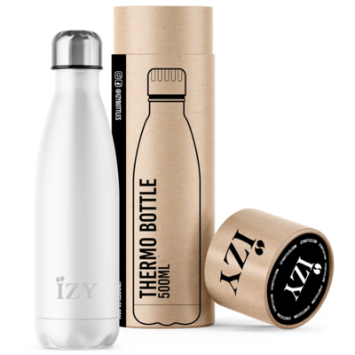 Wit 500ML thermosfles / drinkfles Mrs White