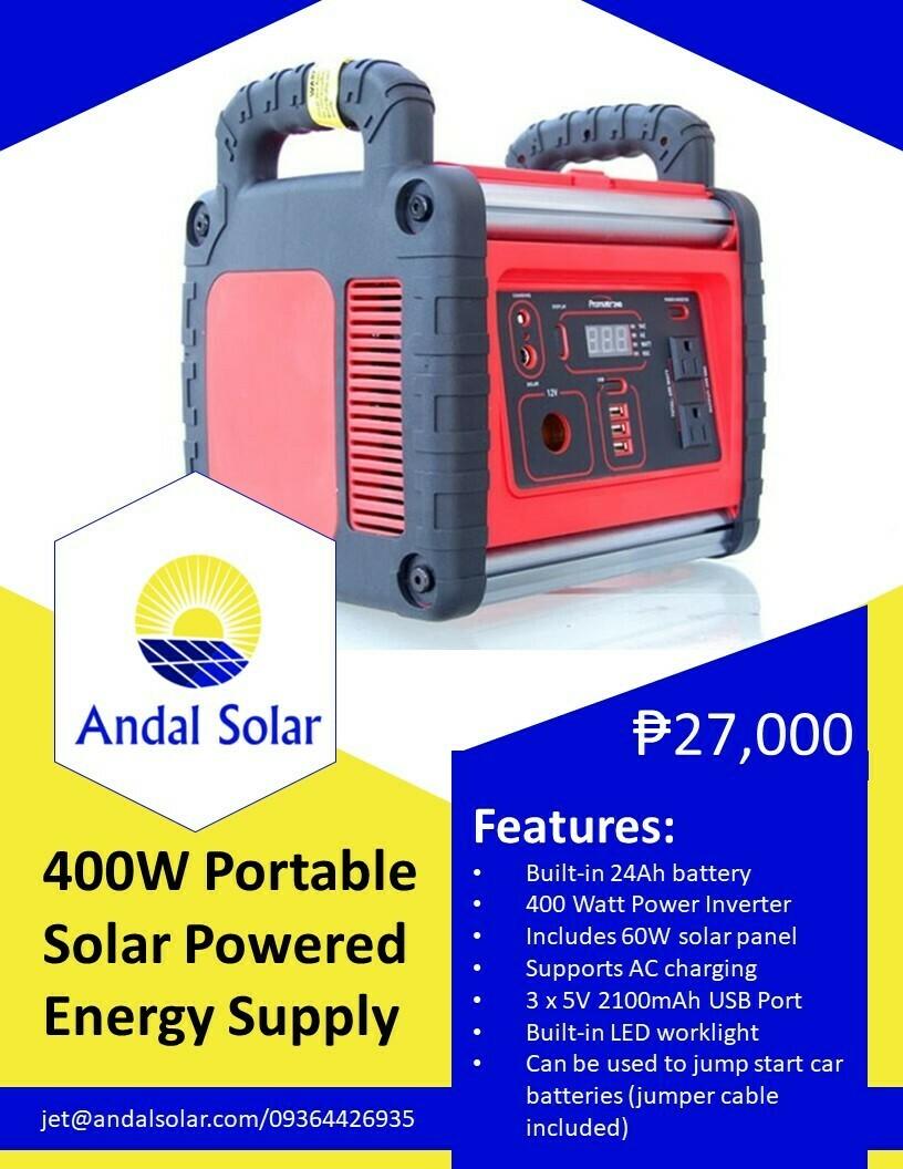 400W Portable Solar Powered Energy Supply