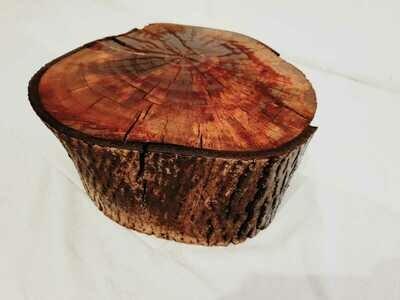 Masuta de cafea rustica stil trunchi de nuc