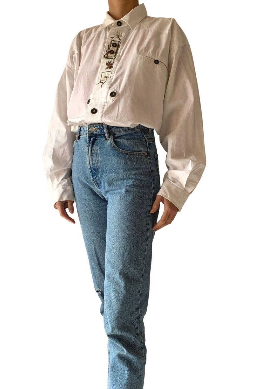 Pamučna bijela košulja