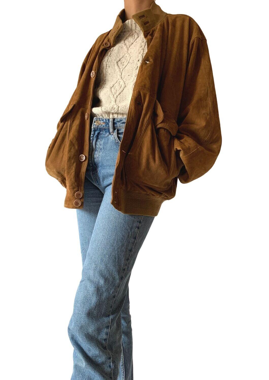 Unisex jakna od brušene kože