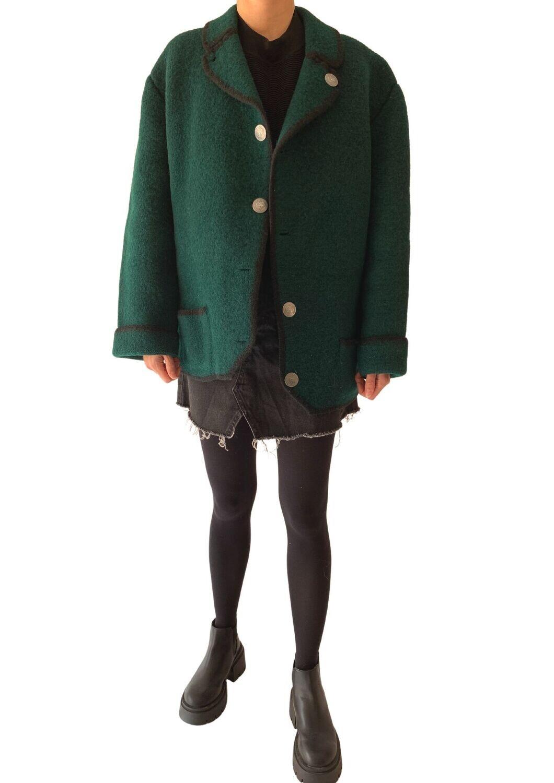 Zelena vunena jaknica