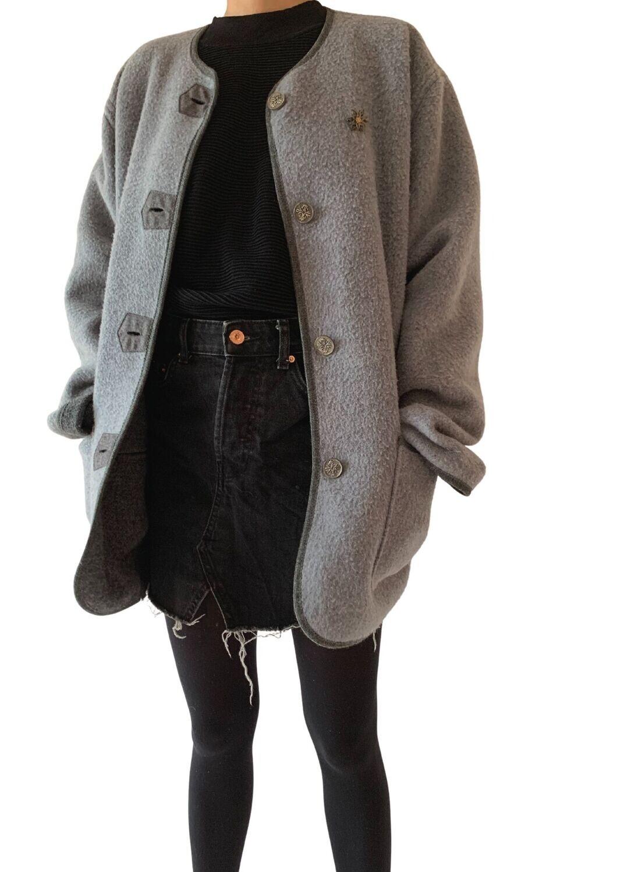 Siva vunena vesta/jaknica