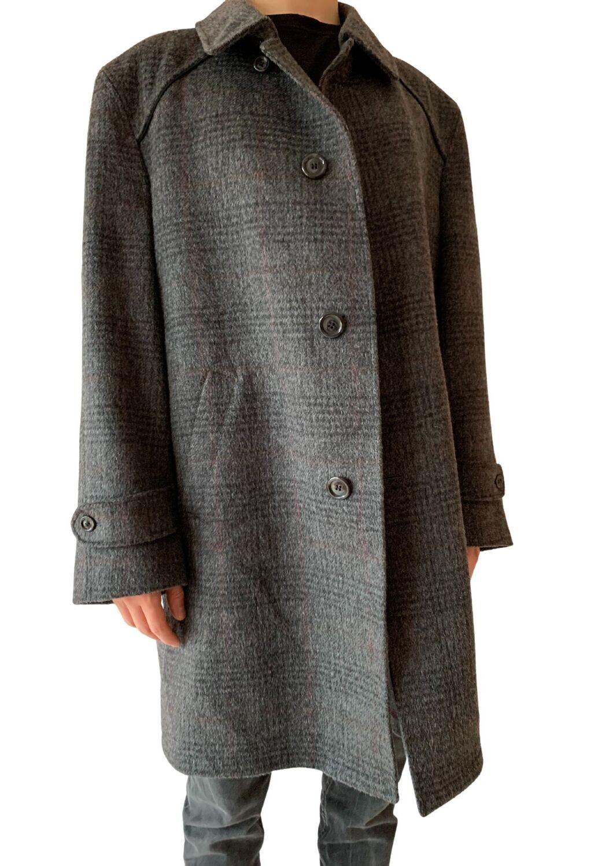 Sivi unisex vuneni kaput