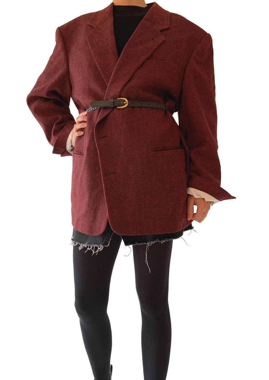 Crveno-crni sako
