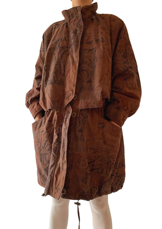 Smeđa šarena jakna