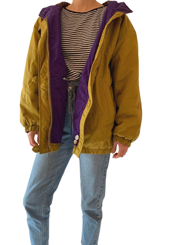 Zeleno-ljubičasta unisex jakna