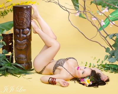 """Tiki Goddess""  - Signed Print"