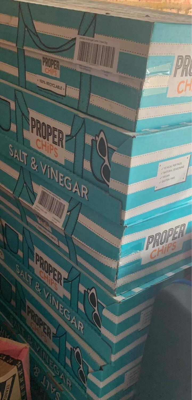 Proper Chips Salt & Vinegar Crisps ( A Case )