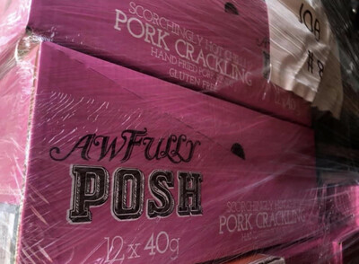 Awfully Posh Hot Chilli Pork Scratchings ( A Case )