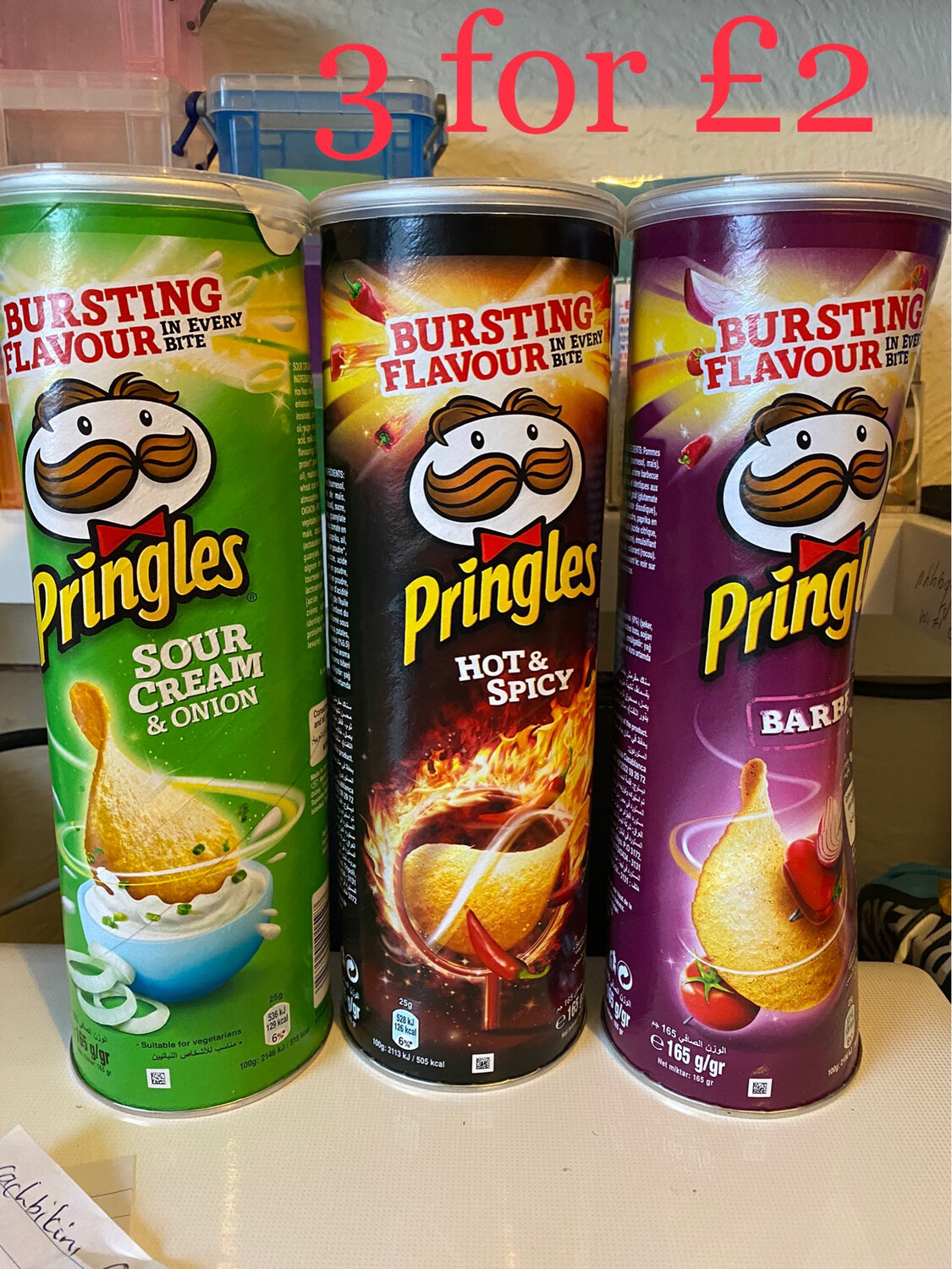 Pringles X 3 ( Ask For Flavours Available )