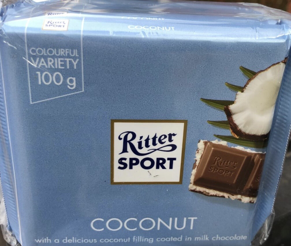 Ritter Sport Chocolate With Coconut X 5