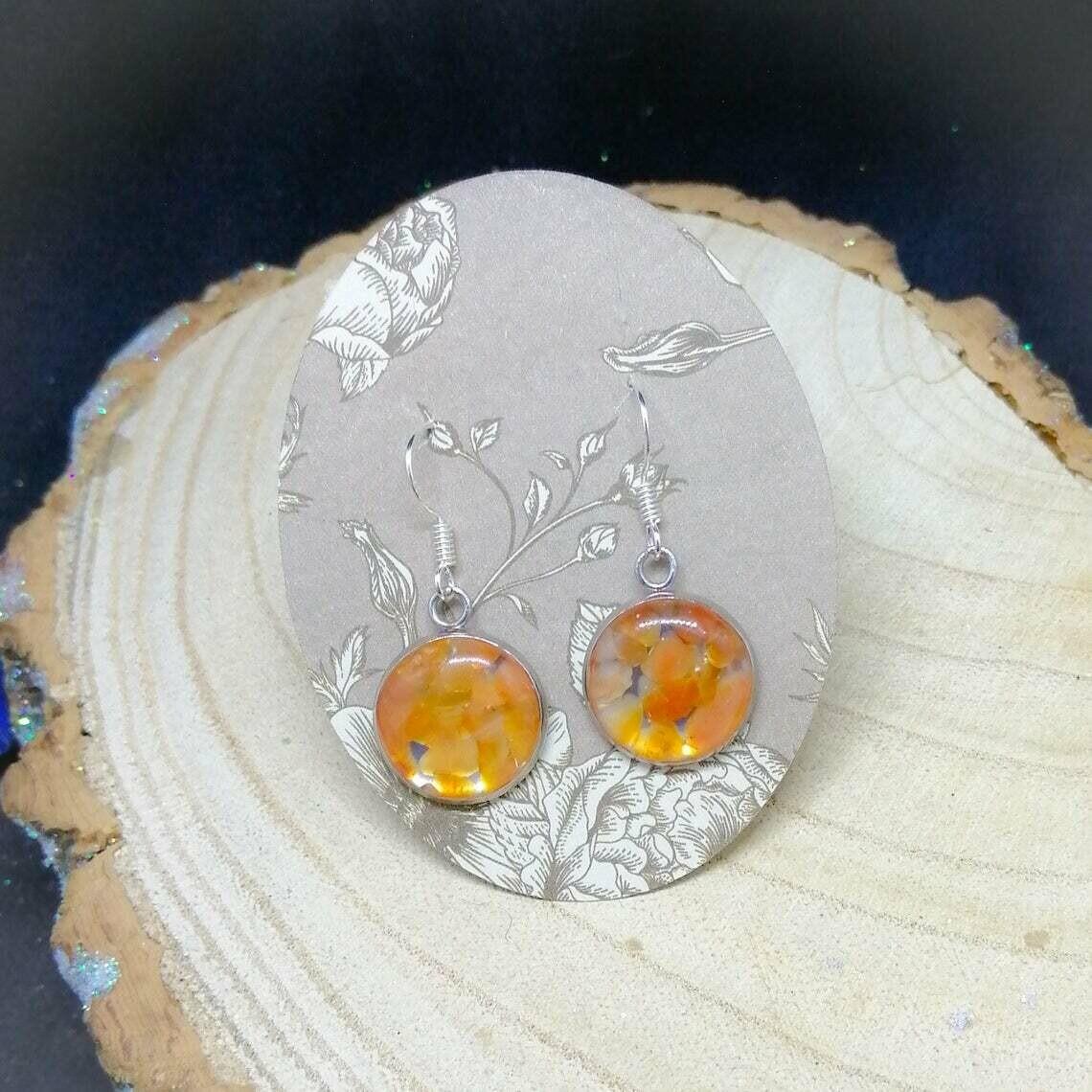 Citrine Gemstone Chip Earrings