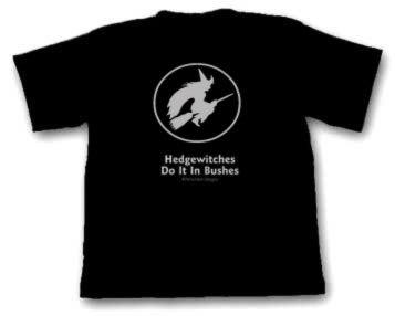 Flying Witch T-Shirt/ Slogan Cotton T-Shirt