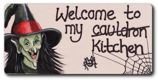 Welcome to my cauldron Kitchen Fridge Magnet