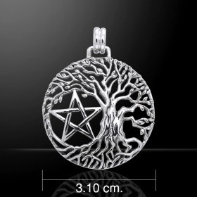 Pendant Silver Tree Of Life with Pentagram