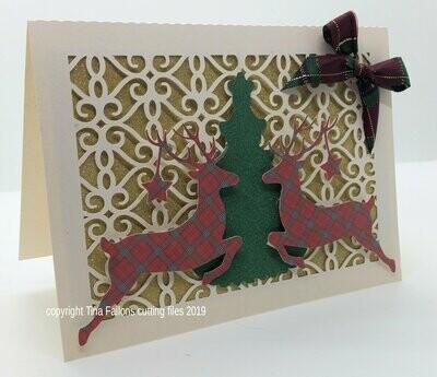 Deer Christmas Card  Rectangle Card