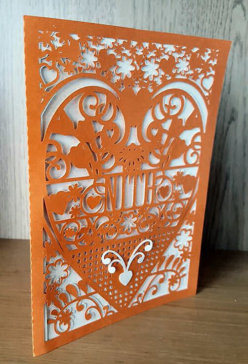 Niece Nith Welsh Card (with box)  beautiful cutout design.