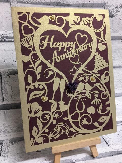 Wedding Anniversary Card  FCM format for Scan n Cut