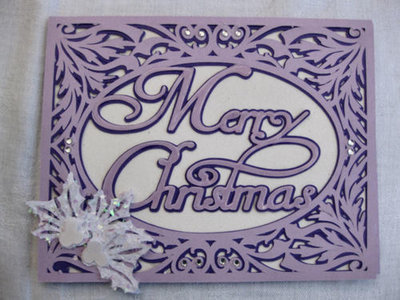 Christmas Card FCM Template - Merry Christmas in a pretty frame setting 2 layered
