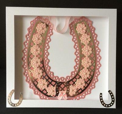 Bridal / Bride Wedding horseshoe  -  Lattice and Daisies  Studio