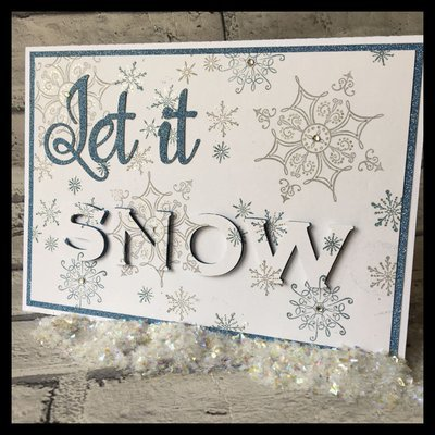 3d eclipse card - Let It Snow Christmas  all formats