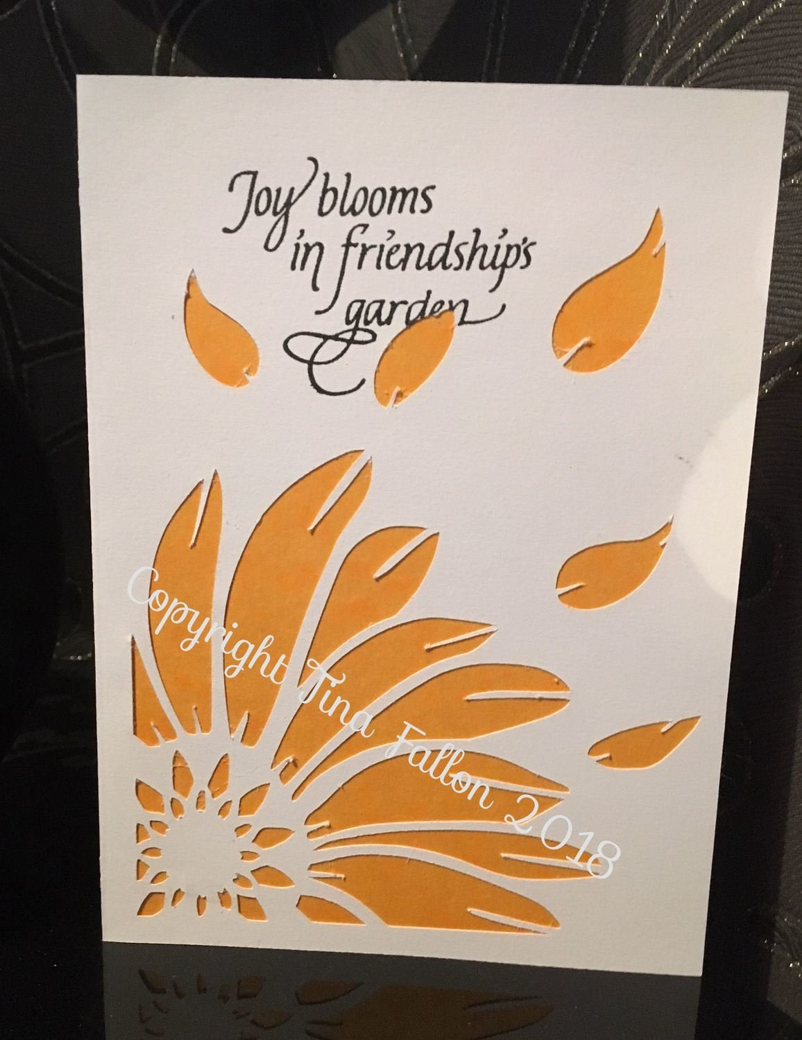 Sunflower Daisy Cut Out Folded Card for many occasions 3 versions included