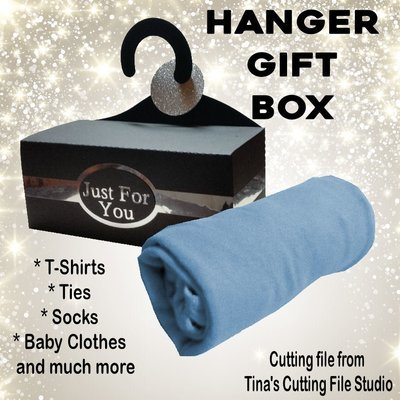 Hanger Gift Box for T-Shirts, Ties, Socks, Underwear, Baby Clothes etc with EXTRAS see description