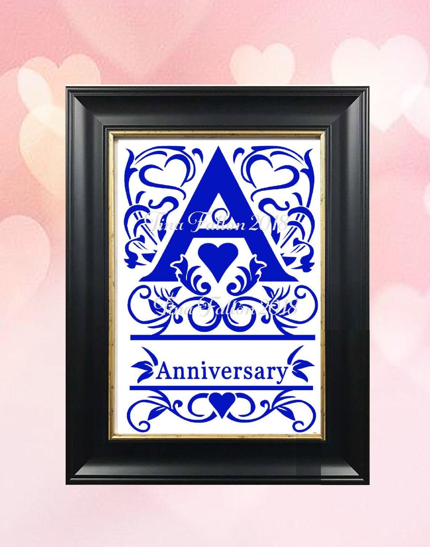 Wedding Anniversary Keepsake Split Letter