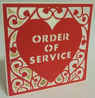 Heart Swirls Order Of Service