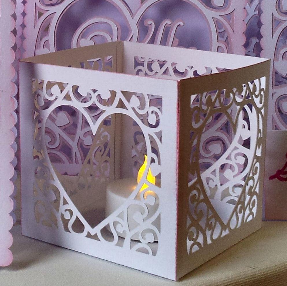Heart Swirls LED Tealight Holder luminaire