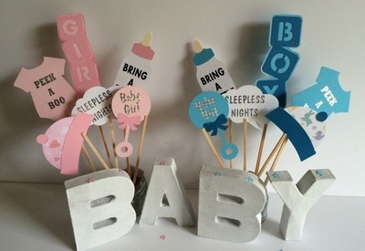 Baby Shower, Birth  party photo props set B
