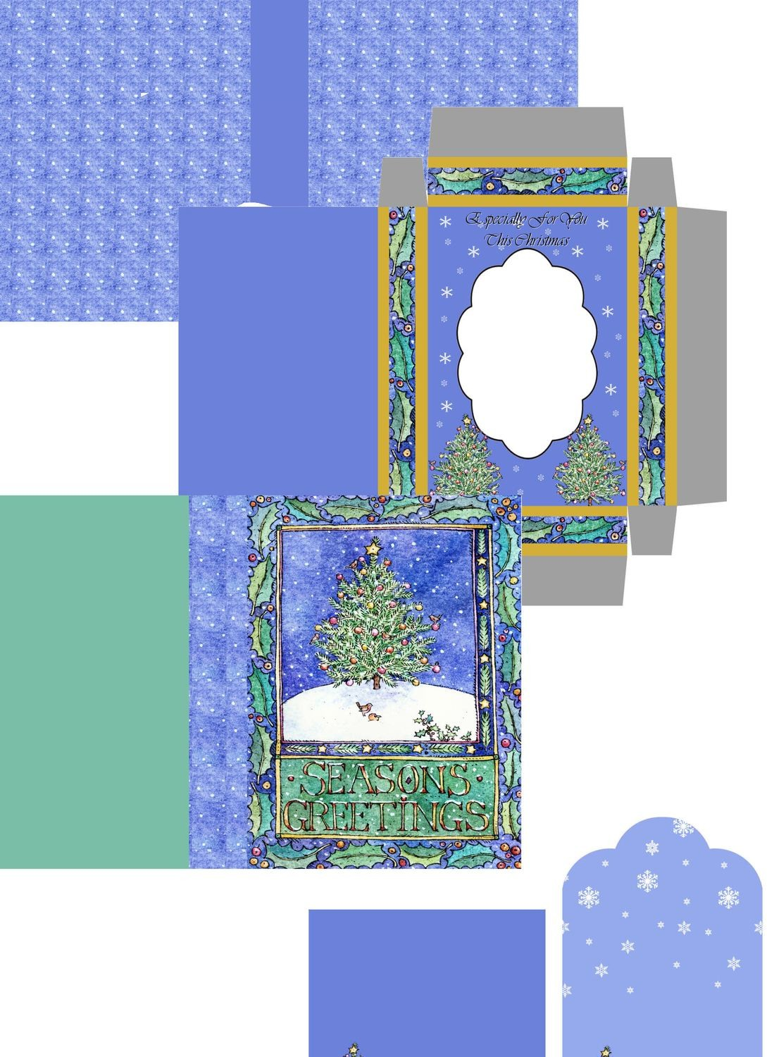 Christmas Tree Combined Card-Box PNC