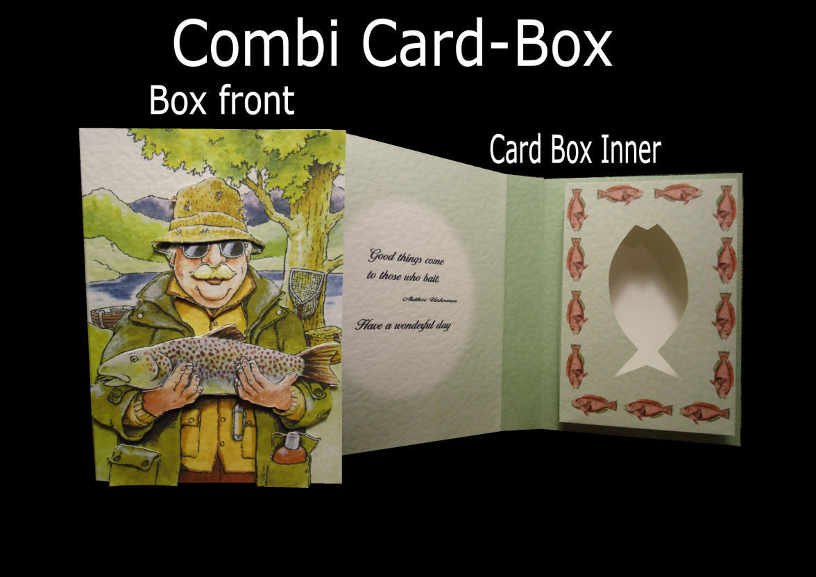 Fishing Combi Card-Box (words read 'Good things come to those that bait' )