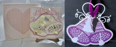Wedding Bell can be a card template or a card topper  complete with box - Studio file